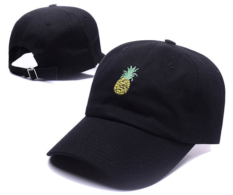Pineapple Hat Embroidery Baseball Cap Funny Fresh Fruit Hipster Hat FruitPineapple Dad Hat Hip Hop Cotton Snapback Cap 100% cotton trap hat baseball cap pretty girls like trap music 2 chainz album rap lp dad hat hip hop black hood wholesale custom
