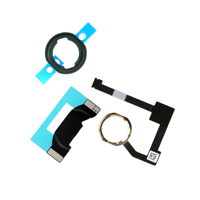 For IPad 6 Air 2 A1566 A1567 Home Button Flex Cable Assembly + Home Key Rubber Gasket And Spacer Holder For IPad Mini 4