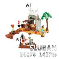 Sluban модель строительный конструктор совместимый с лего B0278 142 шт. модель строительные наборы Классические игрушки хобби Скелет дом