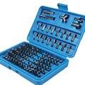 100 unids/set Bits Conjunto Robusto de Acero Al Cromo-Vanadio Destornillador Torx Bit Hex Head Set Profesional Conjunto con la Caja de Color Al Azar