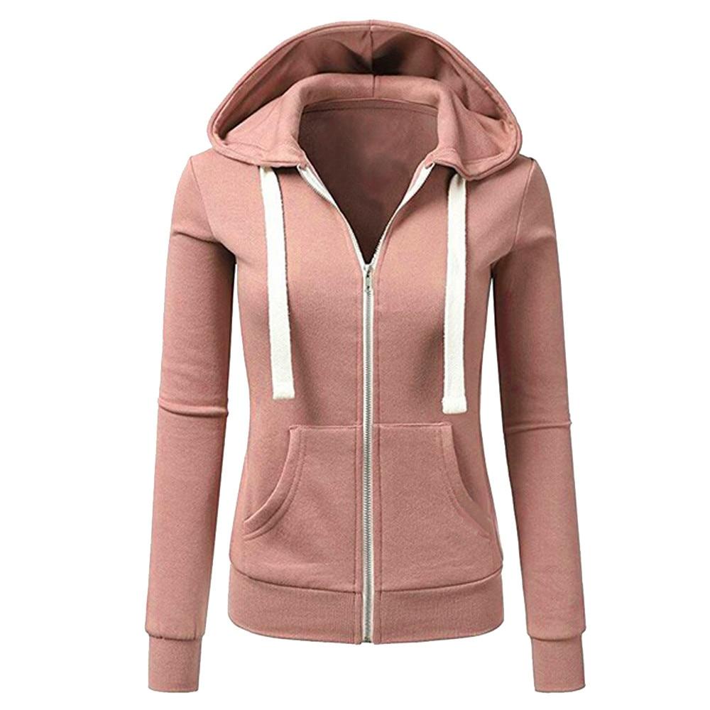 79e467e694f 2018 Women casaco Winter female jacket Long Sleeve Patchwork Solid Color  Hooded Zipper Casual Sport Coat