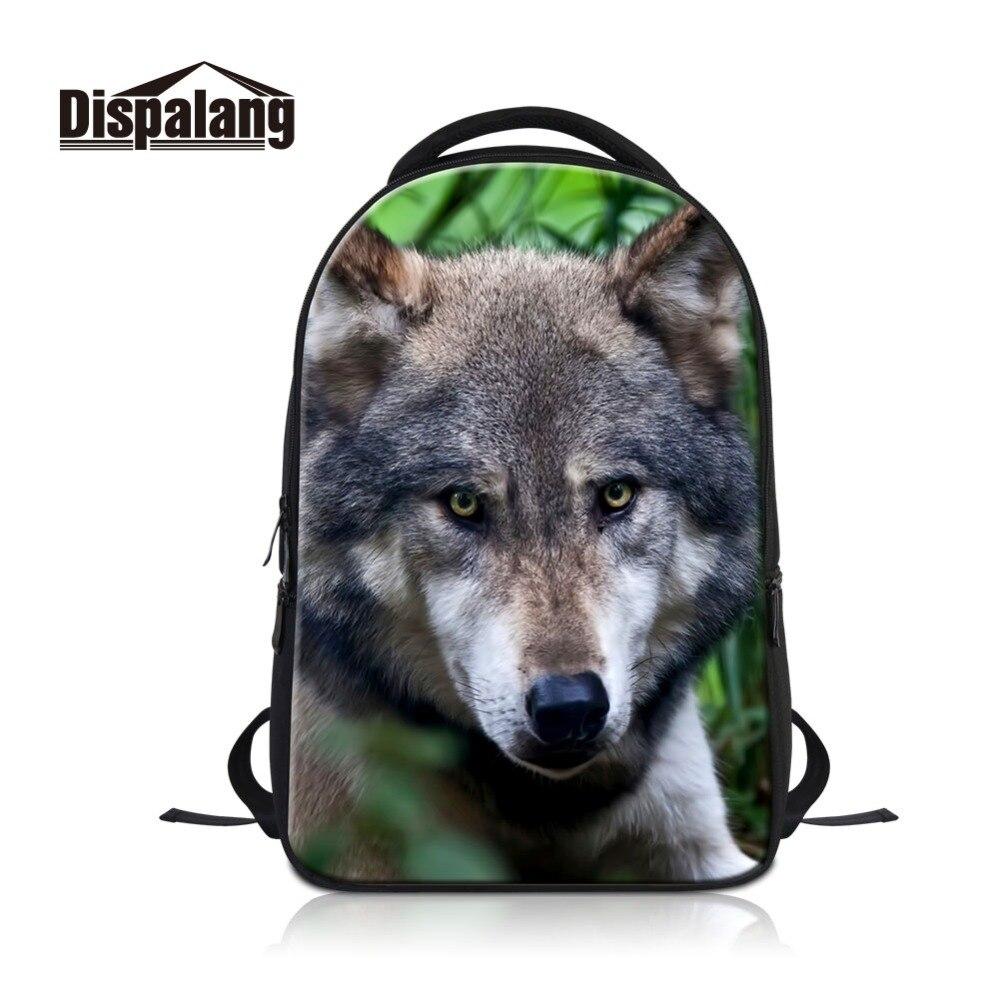 3D Animal loup sac à dos hommes voyage sacs à bandoulière grande capacité sacs pour ordinateur portable pour adolescents sac d'école Cool pour les étudiants