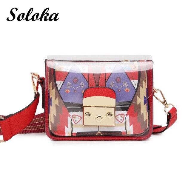 New 2pcs Clear Women PVC Shoulder Crossbody Bags Jelly Candy Summer Beach Handbag  Messenger Bags Cross Body Panelled Flap Bag a790029370704