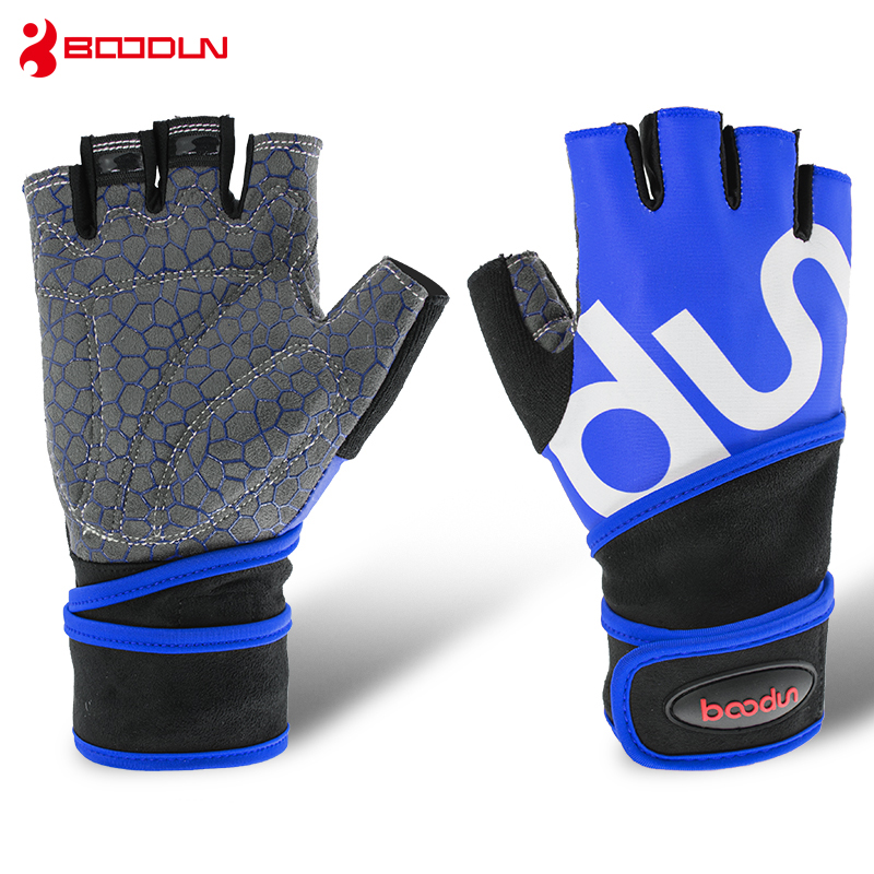 Boodun Sport Weight Lifting Gloves Gym Men Equipment Non-slip Breathable Wrist Wear-resistant Fitness Bell Exercise Women Gloves Beautiful In Colour