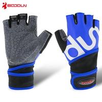 Boodun Sport Weight Lifting Gloves Gym Men Equipment Non slip Breathable Wrist Wear resistant Fitness Bell Exercise Women Gloves