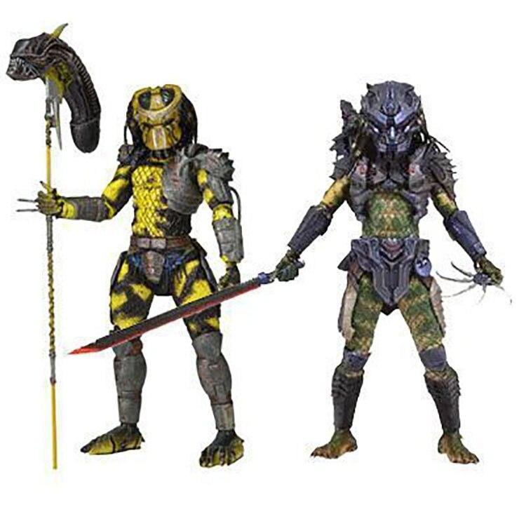 NECA The Predators 2 WASP & Battle Armor Lost Predator Joints Moveable Figure Model Toys 20cm цена