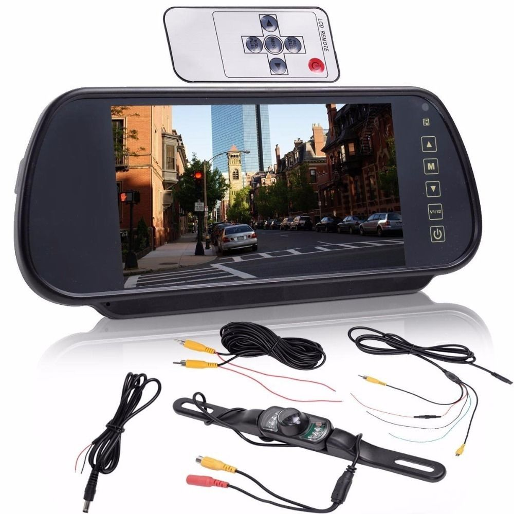Camera-Kit Remote-Control-Monitor Touch-Screen Car-Back-Sight Parking-Reversing 7-Inch