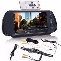 7 inch Car Rear View Mirror Monitor Touch Screen Night Vision Parking Reversing Camera Kit Car Back Sight Remote Control Monitor