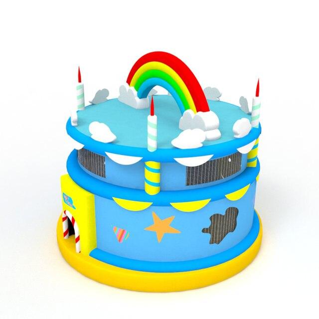 Online Shop Birthday Cake Bounce House Gift For Children Trampoline