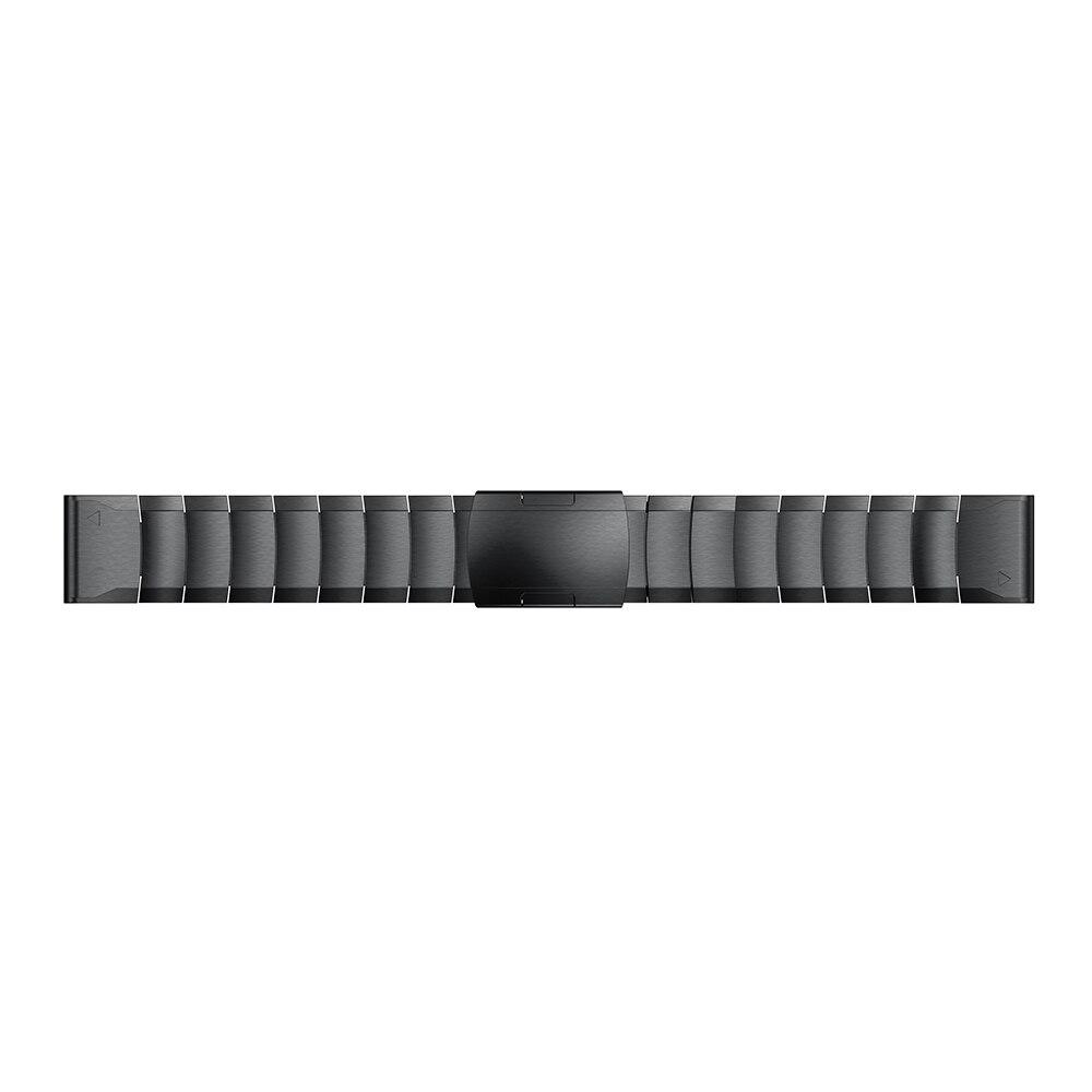 Banda de Aço Inoxidável para Garmin Fenix Plus Forerunner 935 945 Pulseira Inteligente Ajuste Rápido Metal Correa 22mm 5 – 6