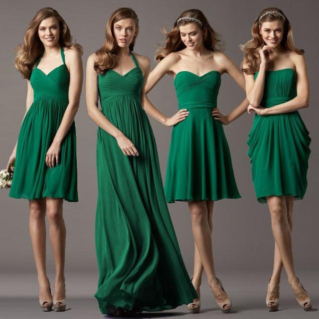Vestido verde en una boda