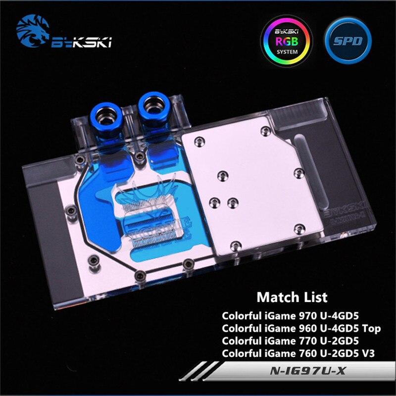 Bykski Complet Cove GPU Bloc De L'eau Pour VGA IGAME Coloré GTX970U GTX770 GTX760 carte graphique N-IG97U-X