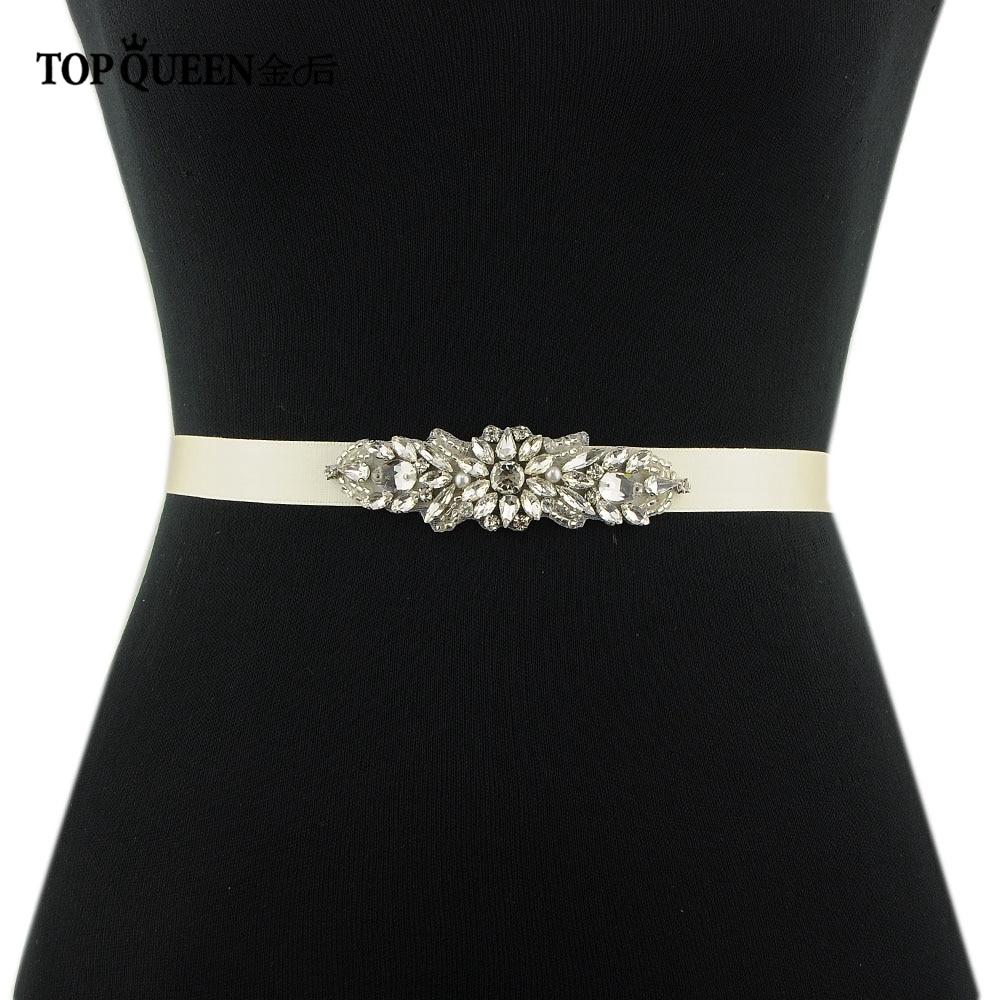 TOPQUEEN S337 Formal Belts For Women Dresses Glitter Belts For Women Jeweled Belt For Wedding Dress Dressy Rhinestone Belt