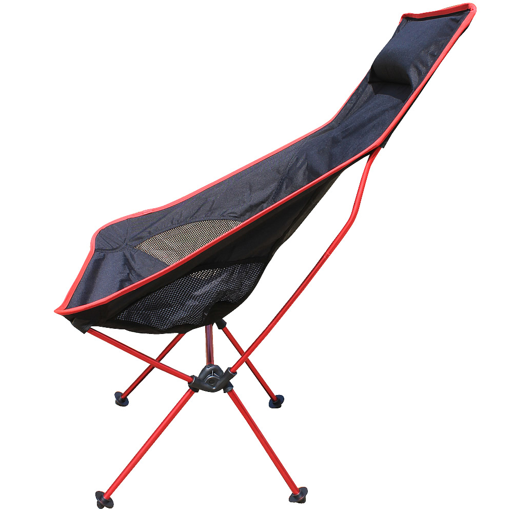 RED Color Portable Camping Chair Fishing Folding Chair Light Weight Packed Seat Stool For Picnic Barbecue Big Load Bearing beach chairs portable folding camping stool chair max load bearing 145 kg silla plegable can adjust the height