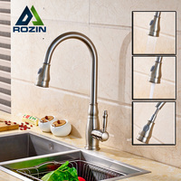 Luxury Wholesale And Retail Kitchen Mixer Faucet Single Handle Pull Out Rotation Kitchen Hot And Cold
