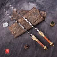 High grade standard solid stainless steel bamboo joint double whips China cold weapon practice martial arts whips collection
