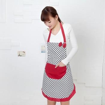 Nuevo lindo BowKnot cocina restaurante delantal con bolsillos para mujeres envío gratis