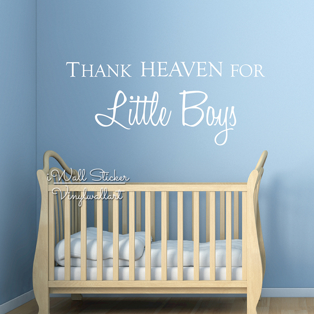 thank heaven for little boys quote wall sticker girls wall quotes