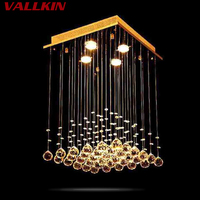 Square Mounted Ceiling Chandeliers Modern Pendant Chandelier Crystal Lamp LED Pendant Lamp Hanging Lamps Dining Living Room