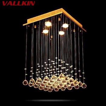 Vierkante Gemonteerd Plafond Kroonluchters Moderne Hanger Kroonluchter Crystal Lamp LED Hanglamp Opknoping Lampen Eetkamer Woonkamer