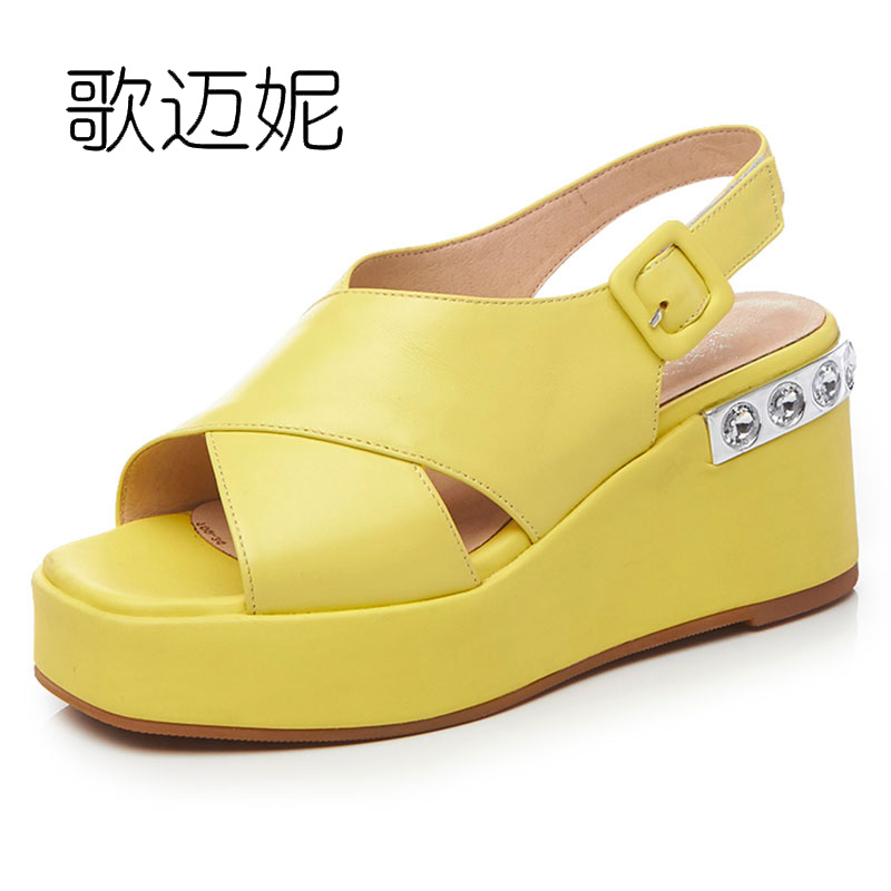 women gladiator sandals wedges platform wedge rhinestone sandals summer shoes woman genuine leather sandles sandalias mujer phyanic 2017 gladiator sandals gold silver shoes woman summer platform wedges glitters creepers casual women shoes phy3323