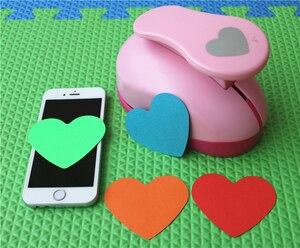 Image 5 - Heißer Verkauf Papier Shaper Cutter Punch Für DIY Karte, Der Scrapbooking Tags Handwerk Werkzeug farbe Random Drop Verschiffen Herz 7,6 cm