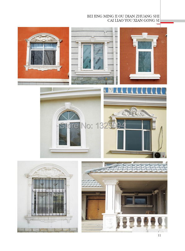 Artistic Building Material Outside Decoration GRC Arched Window ...