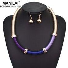 27b5a60c1c9c MANILAI Bohemia de gargantilla de alambre collares para las mujeres joyería  de la boda de declaración de cadena de aleación de C..