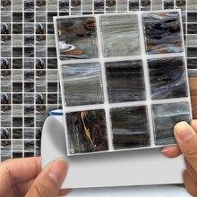Black Gray Mosaic Tile 3D Wall Sticker Self Adhesive Wallpaper PVC Brick Vinyl Film Decal Kitchen Bathroom Toilet Home Decor gray wood vinyl film waterproof tile flooring kitchen bathroom self adhesive flooring tile wall tile sticker