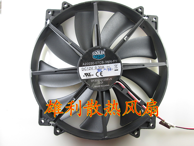 Original A20030-07CB-3MN-F1 DF2003012SELN 12V 0.30A Cyclone 200 20 Cm HAF912 HAF922 Chassis Quiet Cooling Fan