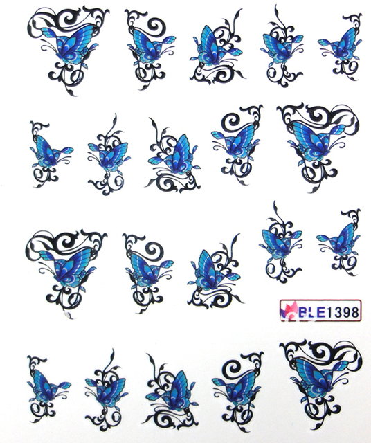 butterfly/leopard*Nail art water transfer decal/stickers/print/accessories *wholsale*drop shipping * ble series