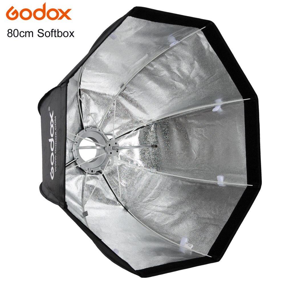 Godox Parapluie Pratique et Rapide Style Octogonale 80 cm SoftBox pour Photo Studio Flash avec Bowen Mount