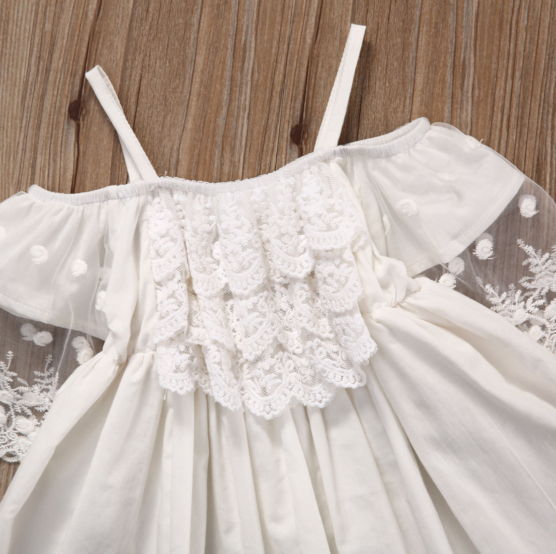 Lace Girl Clothing Princess Dress Kid Baby Party Wedding Pageant Formal Mini Cute White Dresses Clothes Baby Girls 7