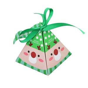 Image 5 - Женская рождественская коробка для конфет, Подарочная коробка для рождественской елки с колокольчиками, бумажная коробка, Подарочный пакет, контейнер, товары для нового года