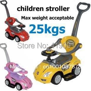 3 En 1 Deluxe Juguete Scooter De Nino Caminador Varilla De Empuje