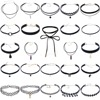 20 Pcs Stylish Black Velvet Choker Lace Necklace Tatto Collar Pendant Tassels For Charm Women Jewelry