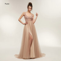 Vestido De Festa Stunning Evening Dresses Long 2018 Sexy Party Dresses V Neck Elegant Prom Dresses
