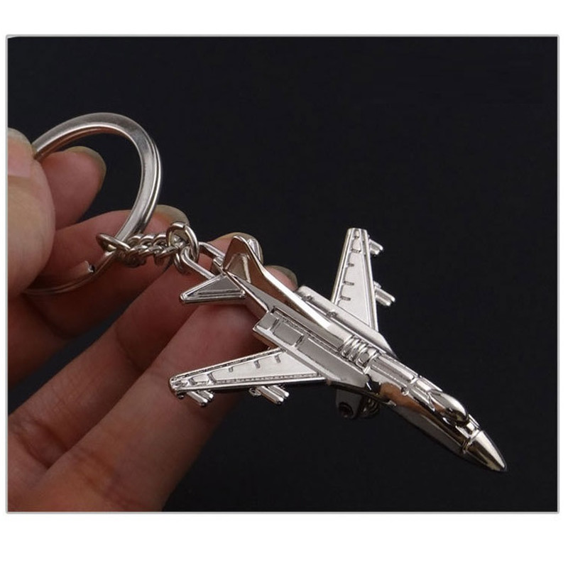 Modern Fighter Aircraft Airplane Keychain Key Chain Key Ring Key Holder Keyring image