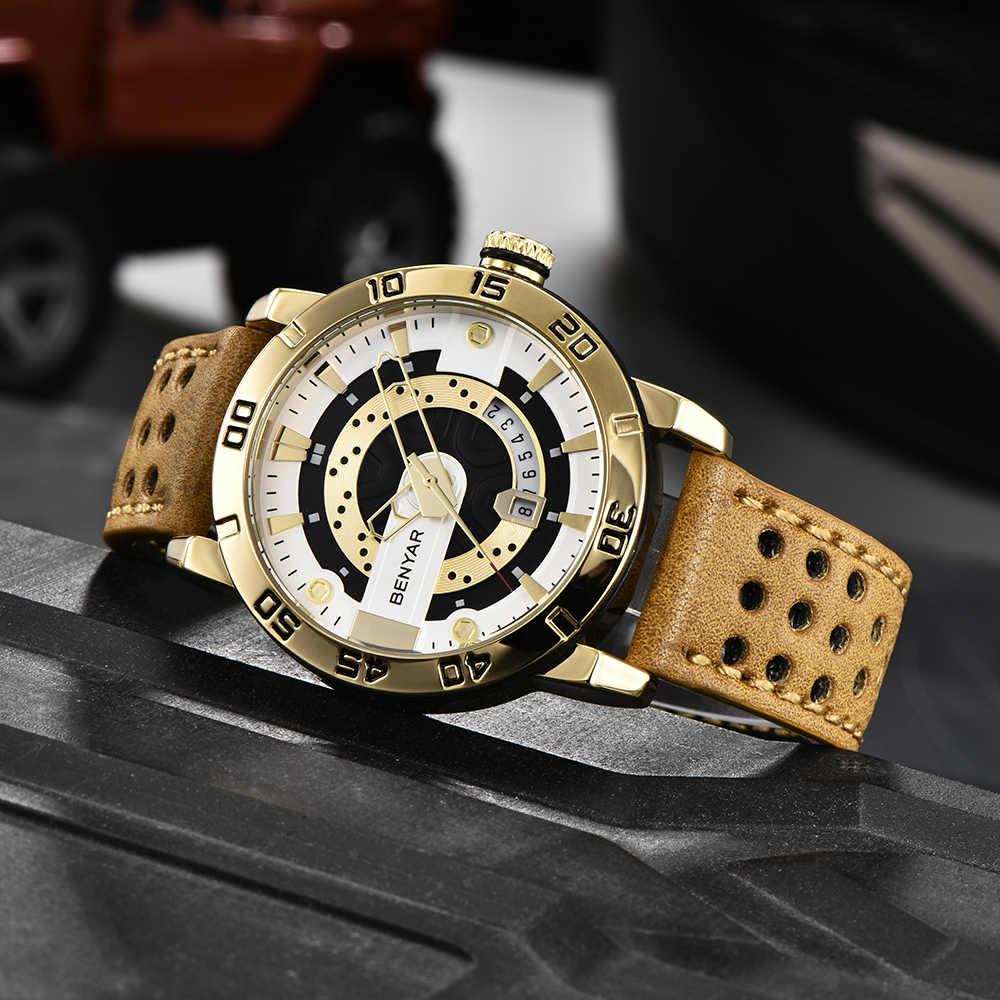 BENYAR Mens Watches Top Brand Luxury Waterproof Wrist Watch Ultra Thin Date Quartz Watch For Men Sports Clock Erkek Kol Saati