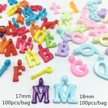 Meideheng acrylic with the hanging hole alphabet beads for Jewelry making Childrens enlightenment education 12*18mm 50pcs/bag