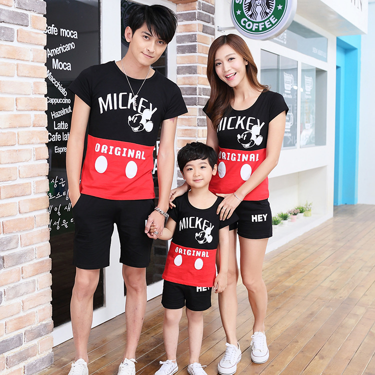 Children Clothing Sets 2017 Summer Family Clothing Sets Boy Girl Clothing Kids Clothes Mother Daughter Father