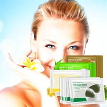 4pair=8pcs 24K Gold Collagen Eye Mask Patches for the Eyes Care Dark Circle Puffiness Bag Anti-Aging Face Serum