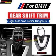 купить For BMW E81 E87 E82 E88 F20 Universa Right hand drive Carbon car Gear Shift Knob Cover trim B+C Style 118i 120i 135i 128i 125i дешево