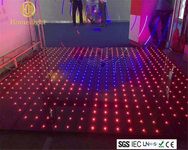 Buy full color rgb led video dance floor for Led pour carrelage