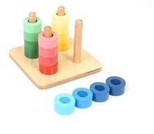 Juguete de madera para aprender los colores