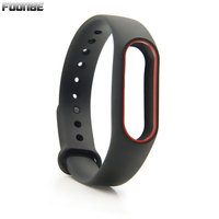 Foonbe Double Color Strap for Xiaomi for Mi Band 2 Smart Wristband Silicone Belt for Miband 2 Bracelet Replacement Band