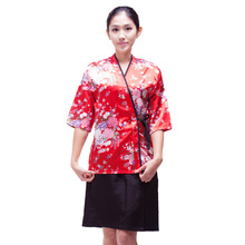 Japanese chef uniform cook  jackets Japan chef uniform  Japanese sushi women and man wear chef Servic work wear free shipping
