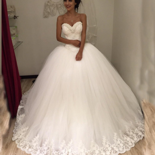 Buy princess pearls lace up wedding for Wedding dresses in turkey