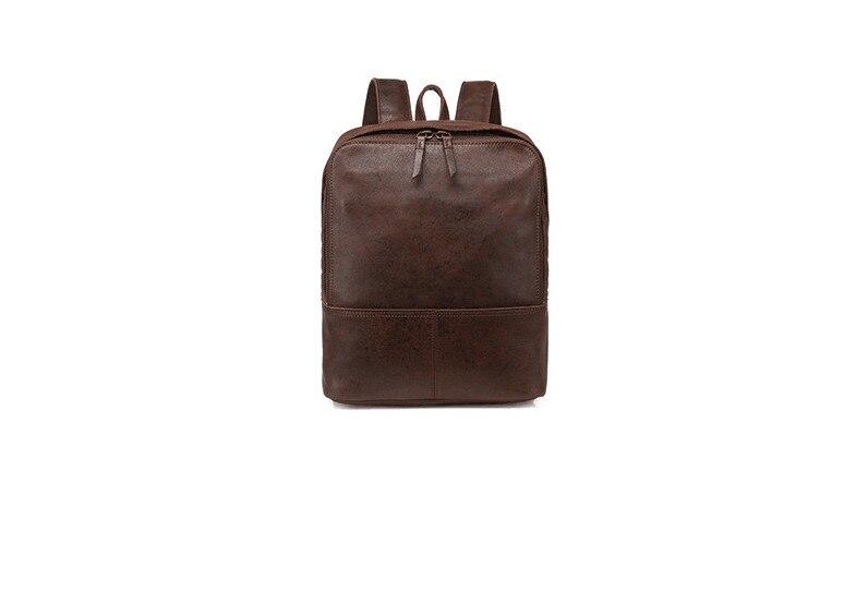 En cuir véritable occasionnels grand sac à dos pour hommes haute qualité