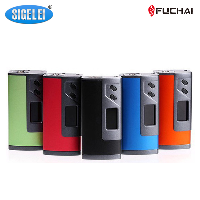100% Original Sigelei FUCHAI 213 Plus Mod  10W~213W Fit for 18650 Battery electronic cigarette Atomizer Vaporizer 1Piece / Lot